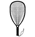 Racquet ball racquet vector image vector image