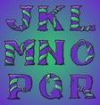 Halloween decorative alphabet part 2 vector image