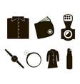 accessories icon set vector image