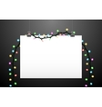 Hanging paper and lights vector image
