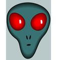 Cartoon alien head vector image
