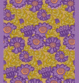 chrysanthemum flower seamless design vector image