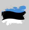 Estonia Flag grunge Brush strokes and ink splatter vector image