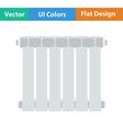 Flat design icon of Radiator vector image