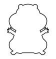 hamster silhouette black color icon vector image