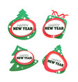 happy new year and merry chrismas banner symbol vector image