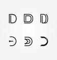 initial letter d logo pack vector image