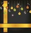 merry christmas ball hanging porter design vector image