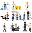 oil industry set extraction production refinery vector image