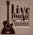 poster for concert live music with acoustic guitar vector image