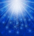Shimmering Xmas Light Background with Rays Winter vector image
