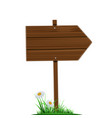 wooden direction pointer road sign isolated on a vector image