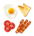 Breakfast Food 4 Top View Icons vector image