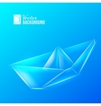 Paper ship vector image vector image