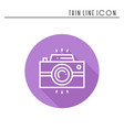 camera line outline icon photo camera photo vector image