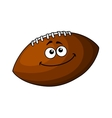 Happy cartoon football or rugby ball vector image vector image