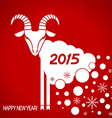 New year red card with goat vector image vector image