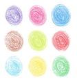 Color pencil round spots vector image