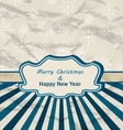 Vintage Celebration Card with Snowflakes Texture vector image vector image