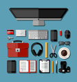 Modern business office workplace vector image vector image