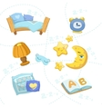 Child Bedroom Objects Set vector image