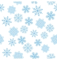 Snowflakes figured seamless vector image vector image