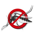 Insect control sign with mosquito vector image vector image