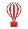envelope in balloon air isolated icon design vector image