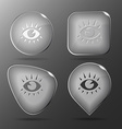Eye Glass buttons vector image