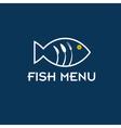 fish menu design template vector image