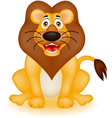 funny lion cartoon vector image