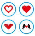 heart love rounded icons vector image