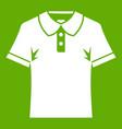 men polo shirt icon green vector image