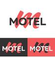 motel logo letter m logo logo template vector image