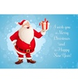 Santa Claus with Christmas vector image