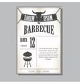Vintage barbecue invitation vector image