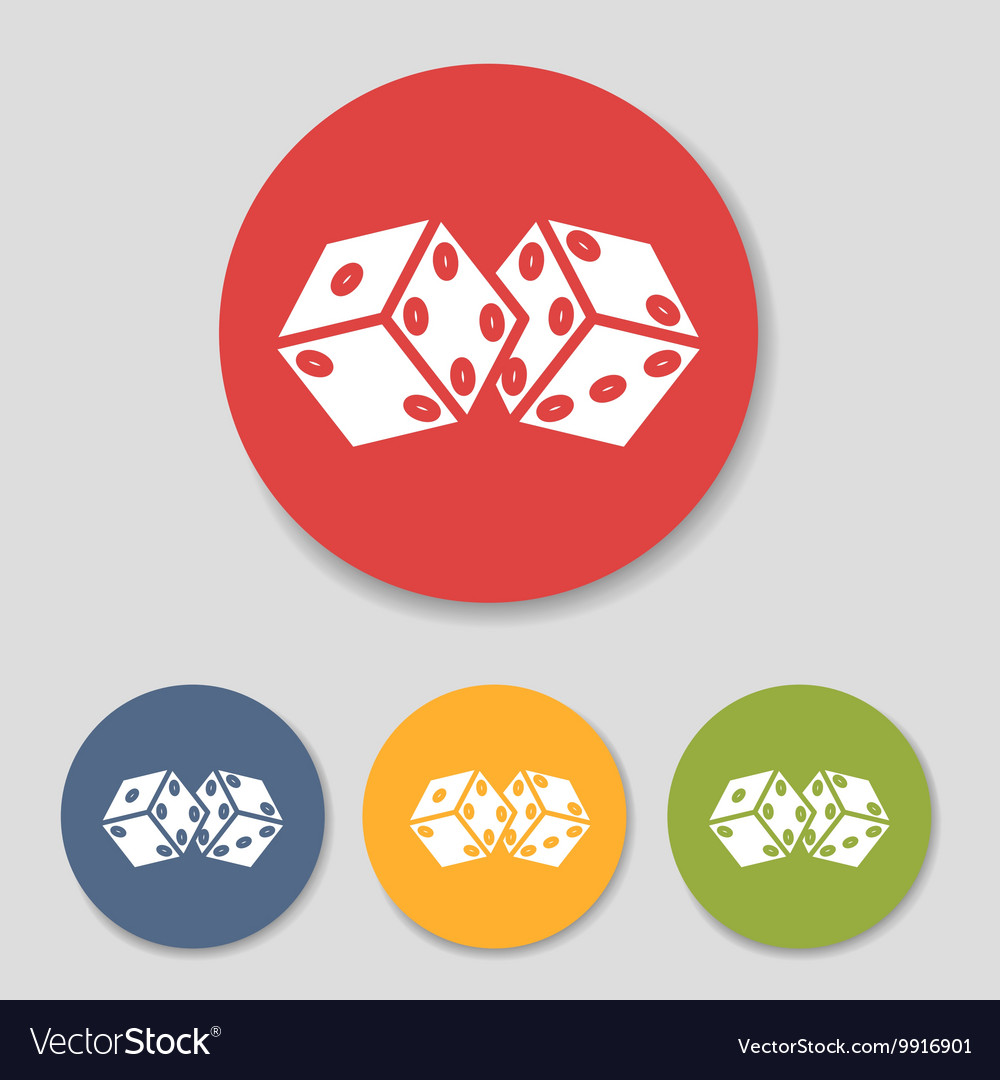 Flat dice icons set vector