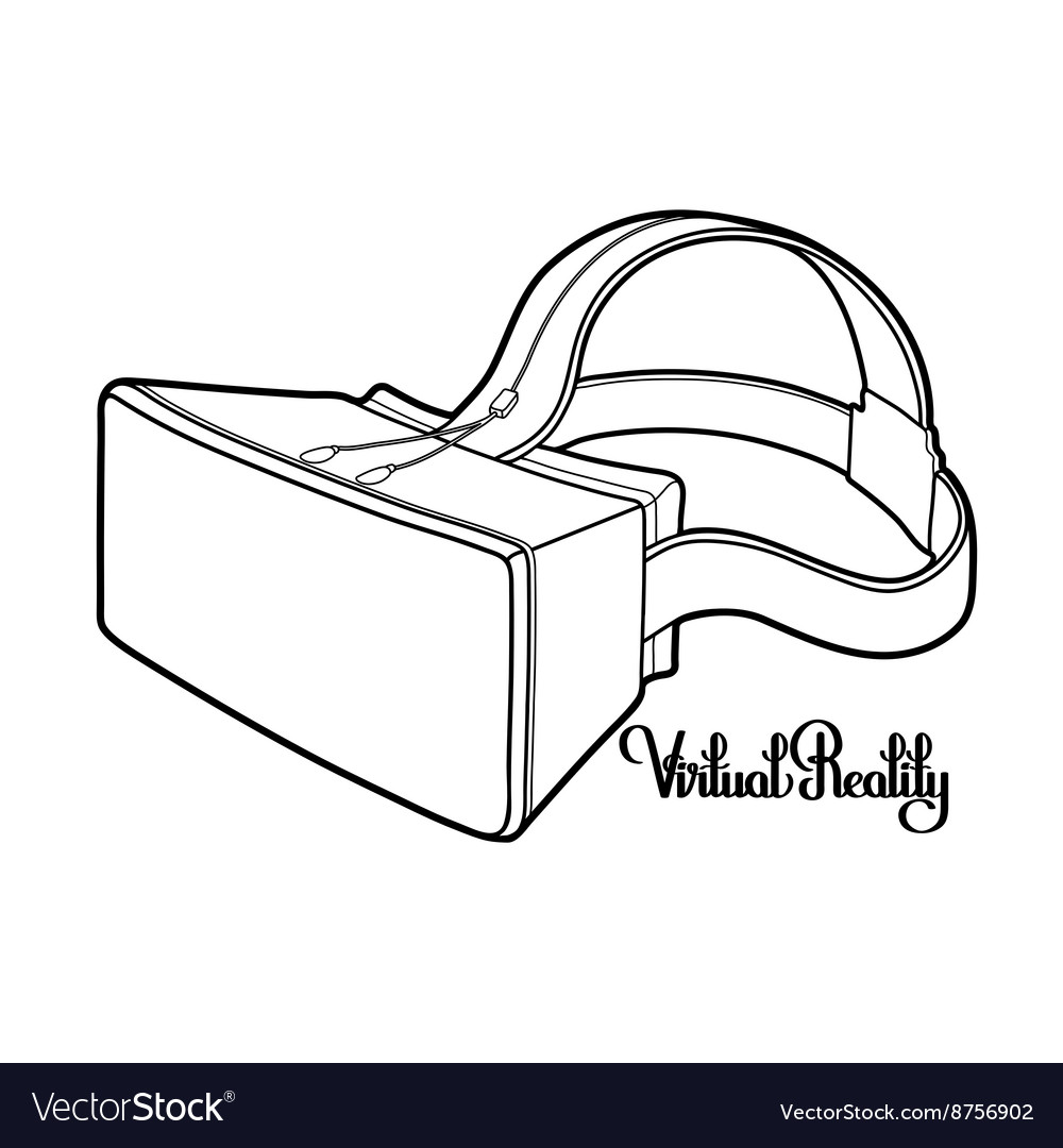 Graphic virtual reality headset vector