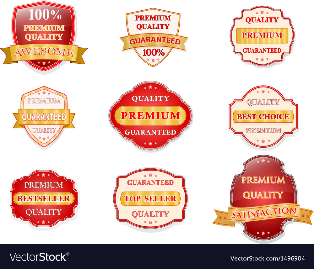 Badge design set vector