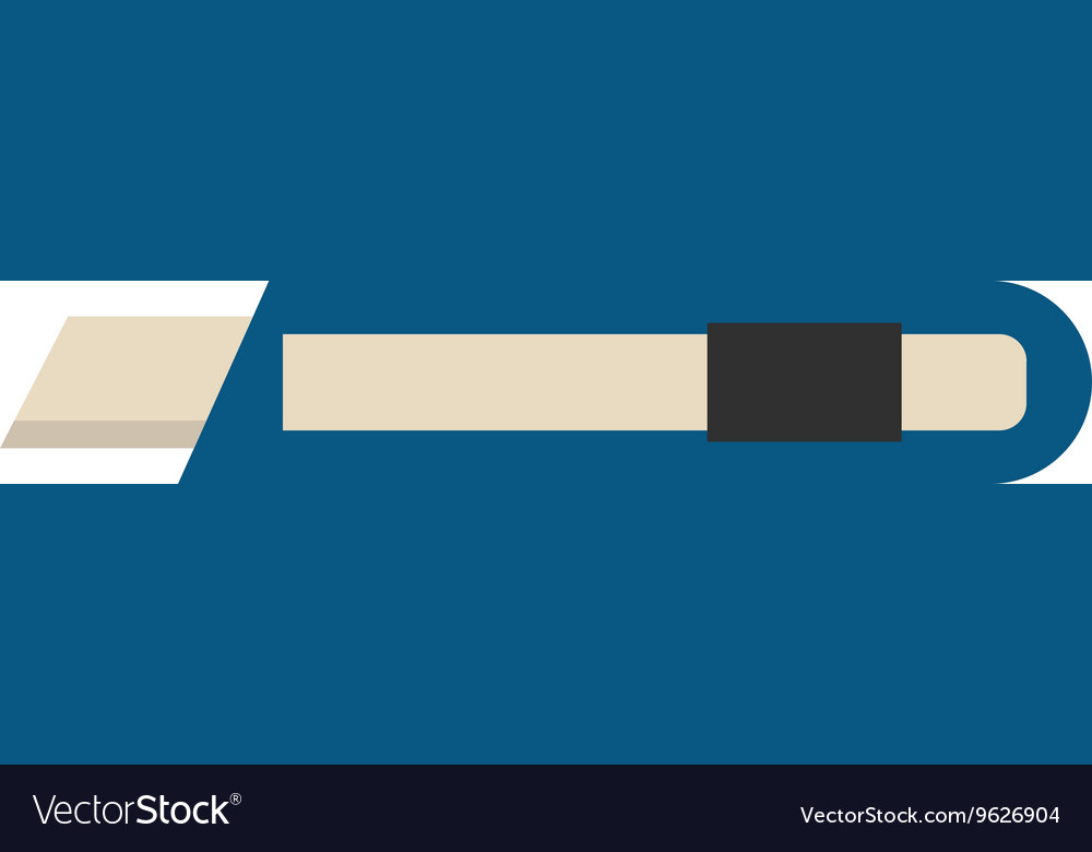 Paper knife flat vector