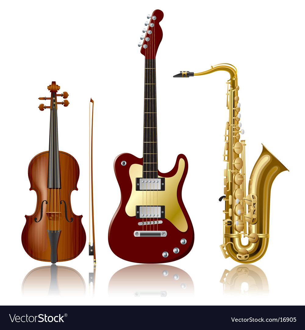 Musical instruments vector
