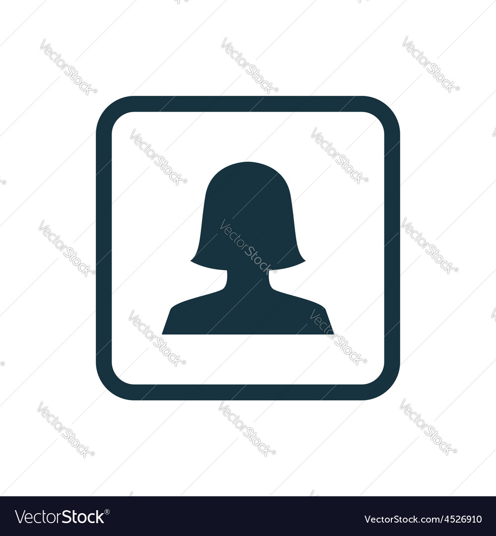 Female profile icon rounded squares button vector