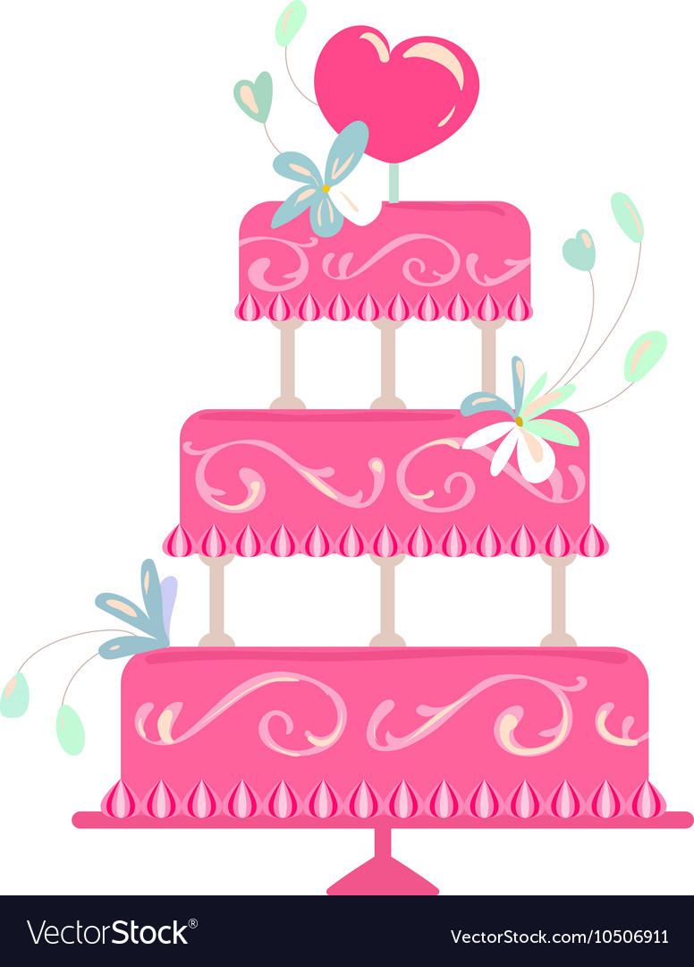 Holiday cake vector