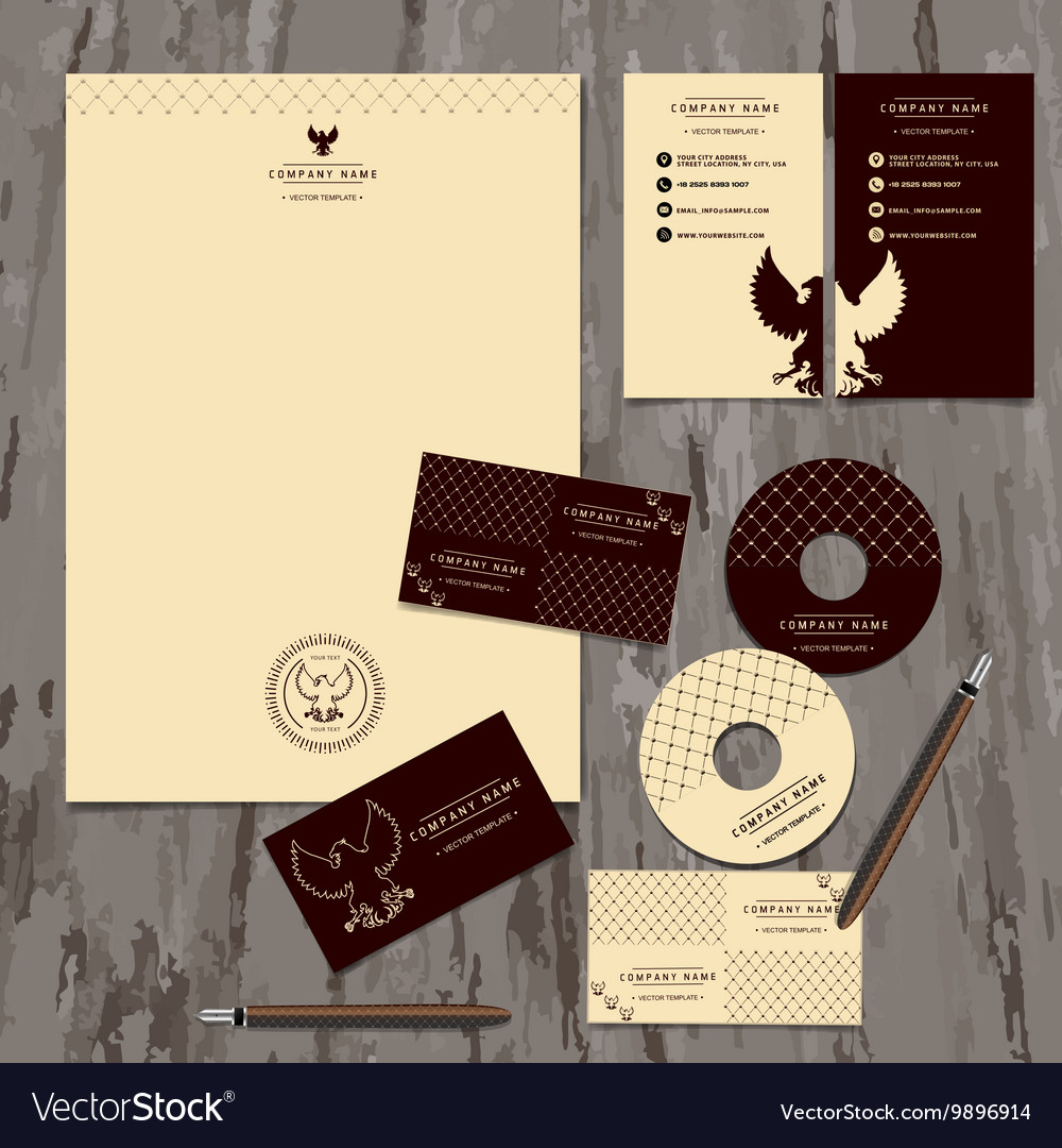 Brandbook of the company vector