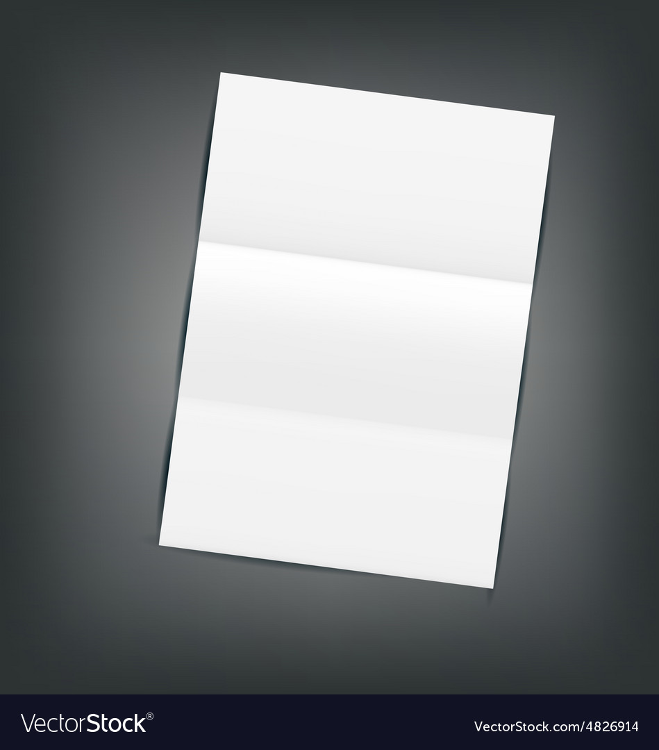 Empty paper sheet with shadows vector