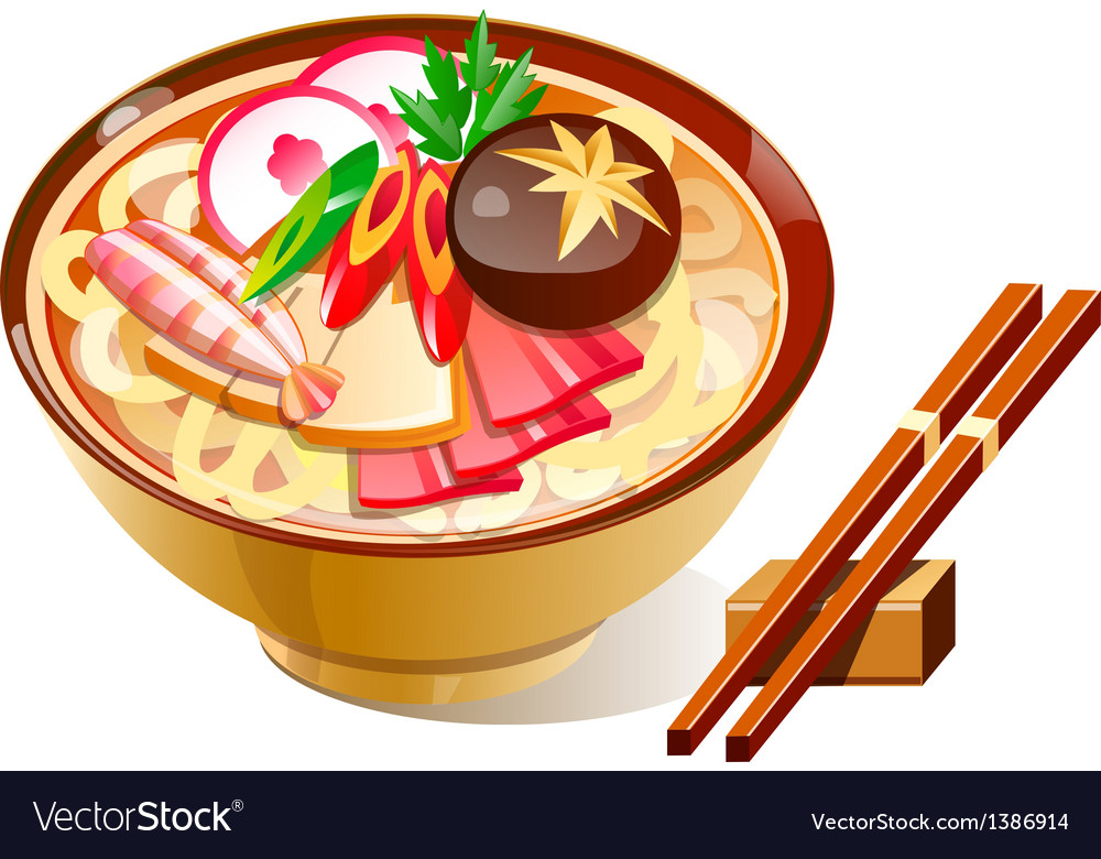 Icon noodles vector