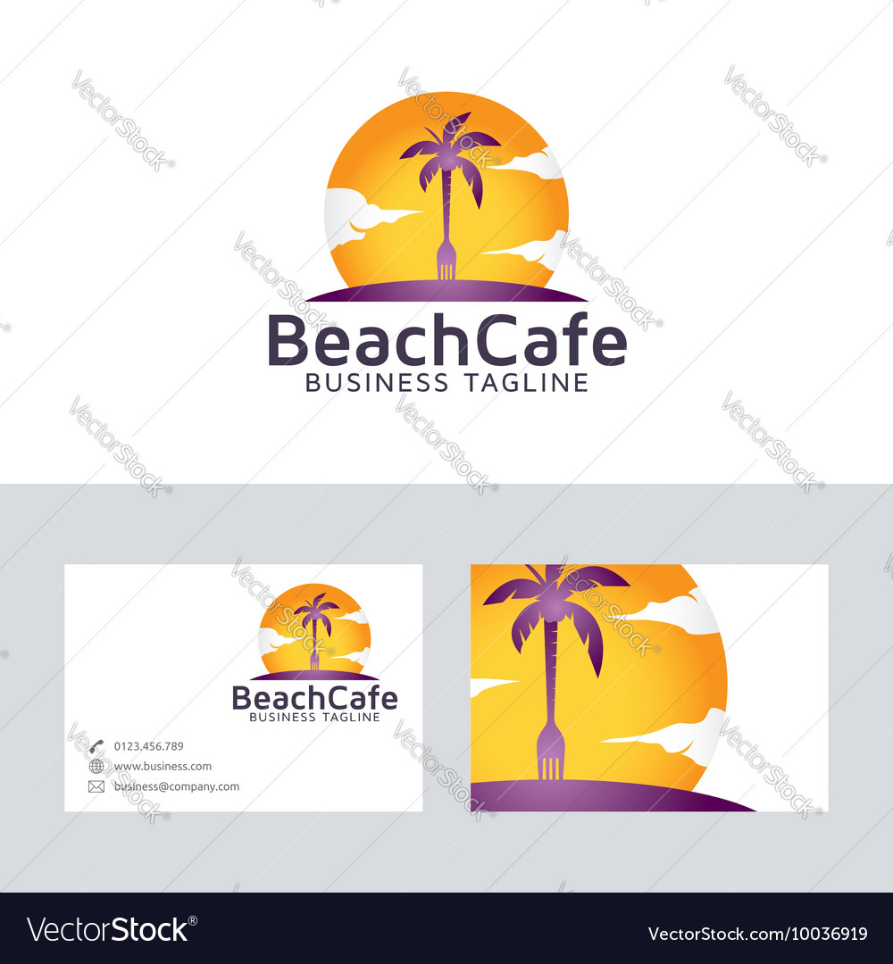 Beach cafe vector