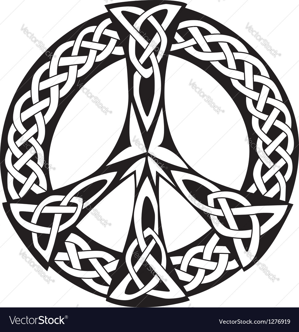 Celtic design  peace symbol vector