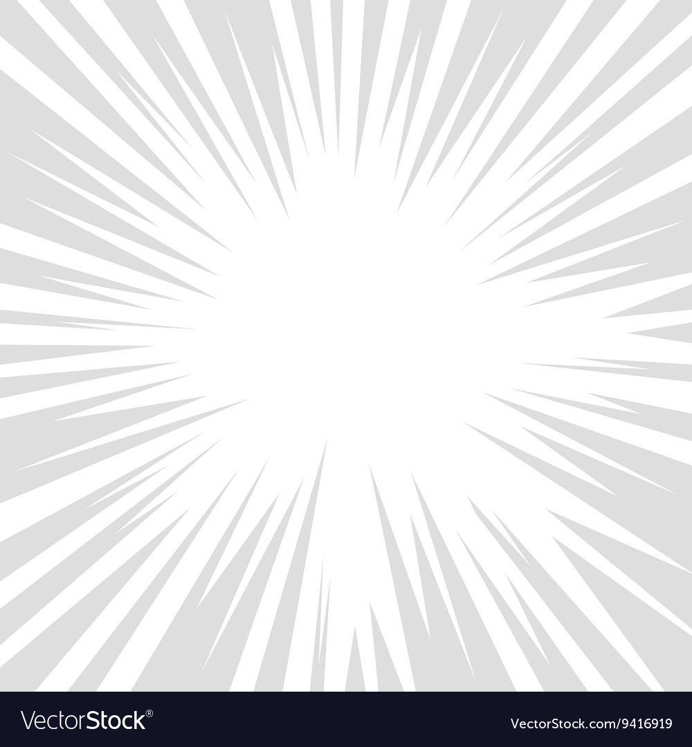 Comic book grey and white radial lines background vector
