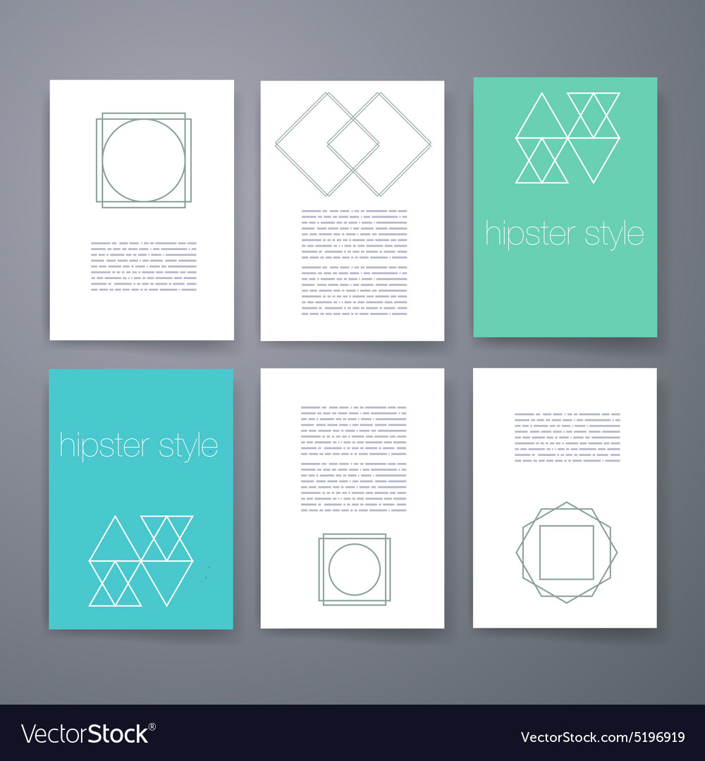 Set of sharp mistical line logos vector